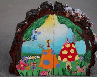 Fairy Realm Hand Painted Bookends