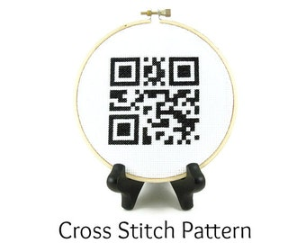 Home Sweet Home QR Code Cross Stitch Pattern