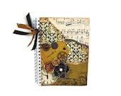 Altered Note Book, Journal, Sketchbook, Steampunk