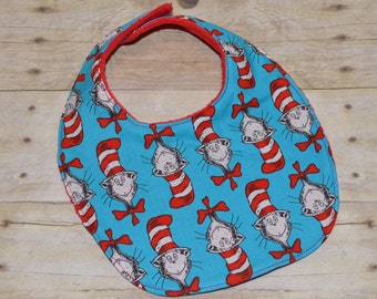 Cat in the Hat Dr. Suess All Over Baby Bib. SALE