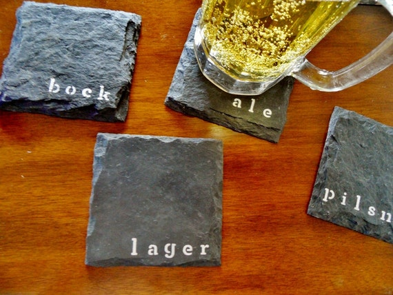 Man Cave Coasters : Beer slate coasters man cave garage fathers day