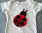 Ladybug Iron On Applique-- Lady Bug Iron On Applique