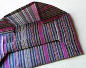 ORIGAMI CLUTCH - stripe abaca bag