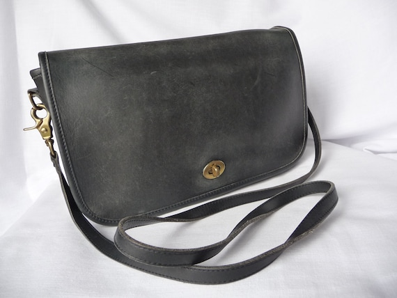 Vintage Coach Classic Large City Bag In Black By