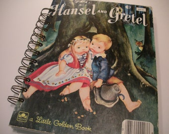 Vintage Hansel and Gretel Little Golden Book Recycled Journal