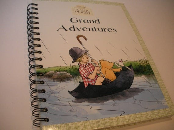 Grand Adventures Disney Classic Pooh Recycled Journal Notebook