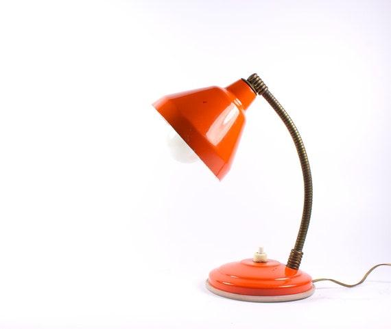 Orange vintage table lamp