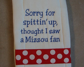 Jayhawk Burp Cloth