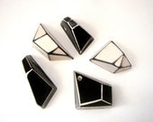 Geometric Pendants Hand Painted,Geometric Jewelry