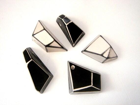 Geometric Pendants Hand Painted,Geometric Jewelry
