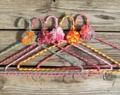 Vintage Bold Crocheted Hangers -Set 3