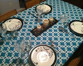 Gotcha Turquoise Tablecloth in True Turquoise by Premier Prints