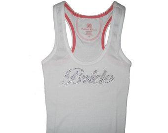 Rhinestone Bride Tank Top,Bride Gift, Bride Shirt, Bridal Shower Gift, Bridesmaid Tank Tops, Bachelorette Party Shirts, Engagement Gift