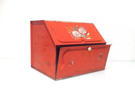 1950s Ransburg Toleware Tin Bread Box
