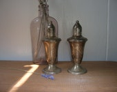 RESERVED FOR ROD - Antique Sterling Silver Salt and Pepper Shakers