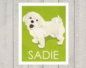 Maltese Art Print - Custom Dog Art