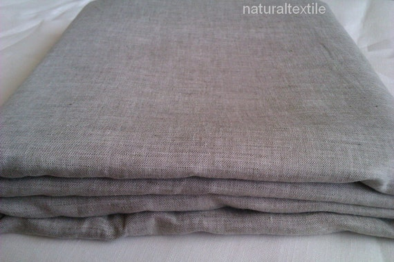 "Linen Natural DUVET COVER European Flax - Twin 69""x85"" (175x215cm)"