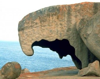 Kangaroo Island rock formation cross stitch pattern from a Vintage Photograph - Fiber Art