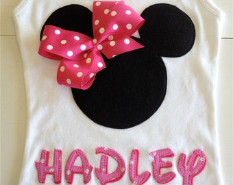 Minnie Mouse Personalized Tank Disney trip - Back By Popular Demand - Limited Time Only!!!