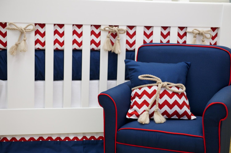 THE ALEXANDER: Nautical Crib Bedding