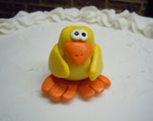 Clay Birthday Candle Holder - Yellow Bird