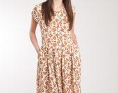 Vintage 90's Button-up Floral Autumn Dress