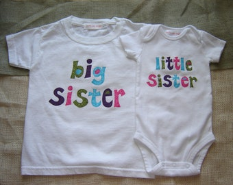 Custom Big Sister/Little Sister Shirt Combo (NOT Personalized)