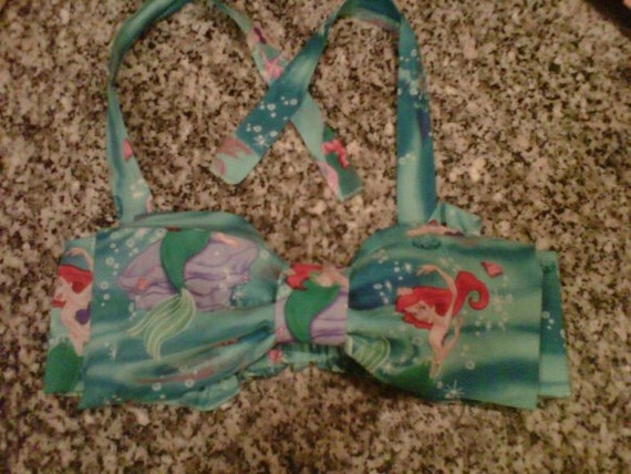 The Little Mermaid Bandeau Bow top