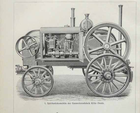 1897 Antique print of ANTIQUE LOCOMOTIVES and ENGINES. 115 years old print.