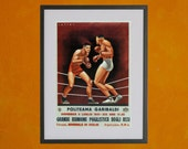 Boxing Match Poster - Italy, 1941 - 8.5 x 11 Poster Print - also available in 13x19 - see listing details