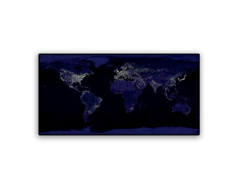 Hubble Universe Earth at Night on 22x11 PopMount Ready to Hang FREE SHIPPING