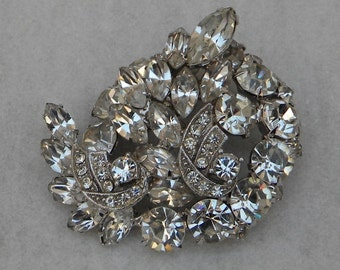 Large Vintage 1950s WEISS Brooch Excellent Condition
