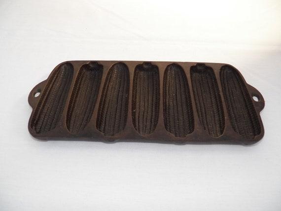 Cast Iron Corn Muffin Tray -Antique Wagner Ware Mold - Farmhouse Decor- Rustic - Kitchen Decor- Baking Pan-Cast Iron Tool