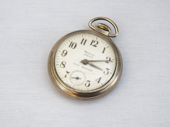 1963 Westclox Scotty - Shock Resistant Pocket Watch- Silver Metal Case- WORKING- Mens Jewelry Accessory
