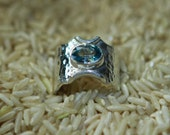 Blue Zircon Sterling Silver Ring