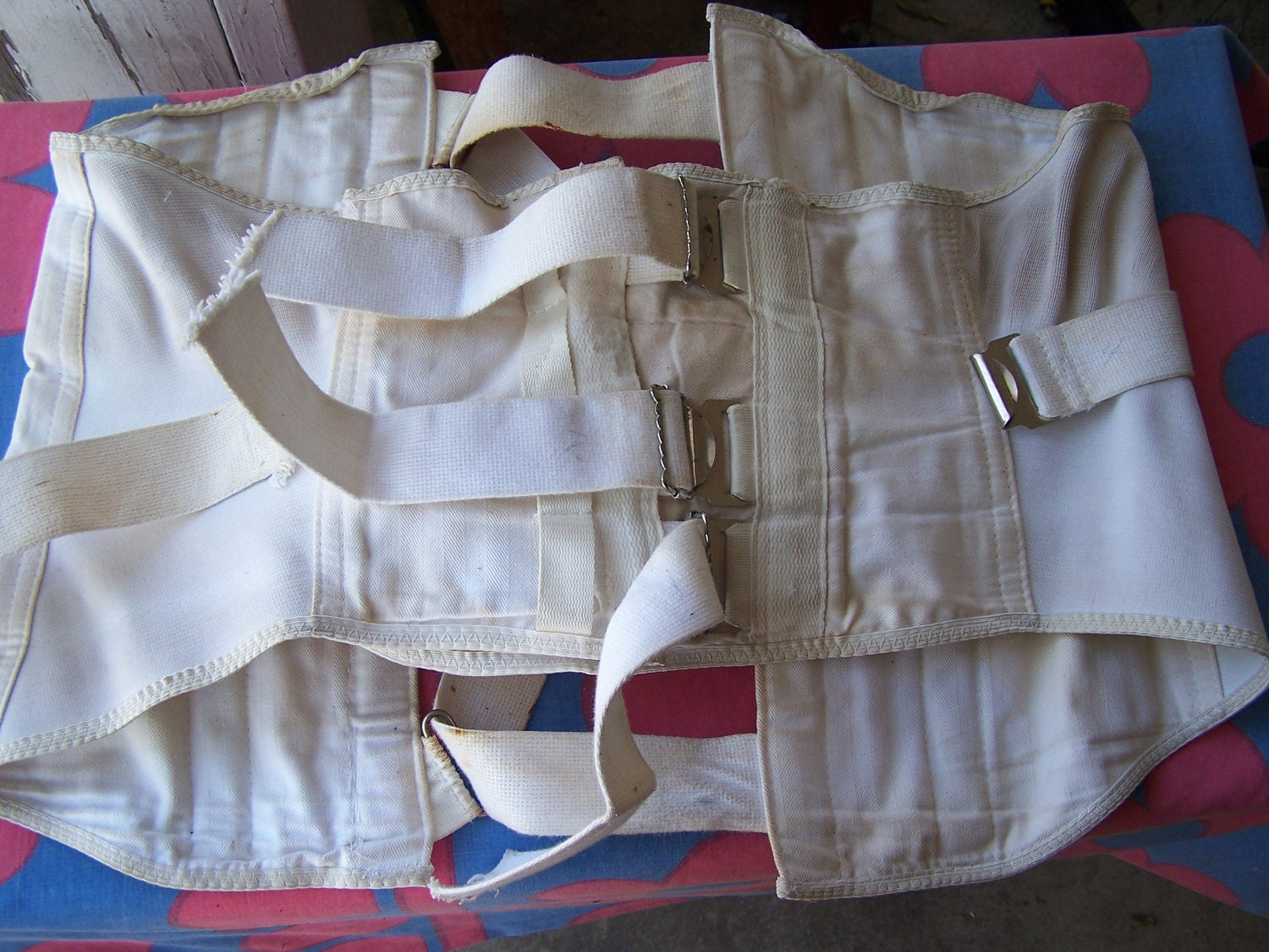 vintage vtg back brace corset torture straight jacket by toolstarr