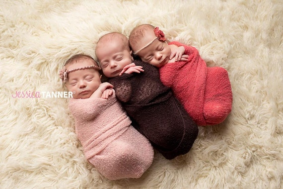 Newborn Knit Stretch Wrap, Newborn Photo Prop, Baby Stretch Wrap, Peach Knit Stretch Wrap, Newborn Peach Wrap