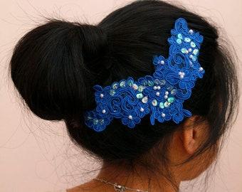 Wedding/Bridesmaid headband/head piece - Blue