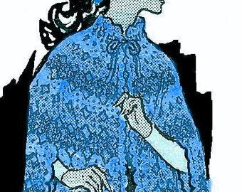 A Best Vintage Saucy Shell Cape Miss & Plus Sz 428 PDF Digital Crochet Pattern