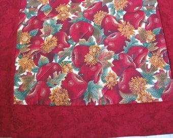 Fall Christmas Reversible Tablerunner Apple Harvest