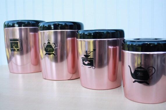 Vintage West Bend Copper Canisters - Set of 4