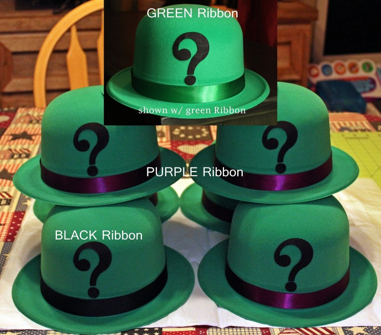 Cosplay Comic Con RIDDLER Green Velour Coated DERBY By