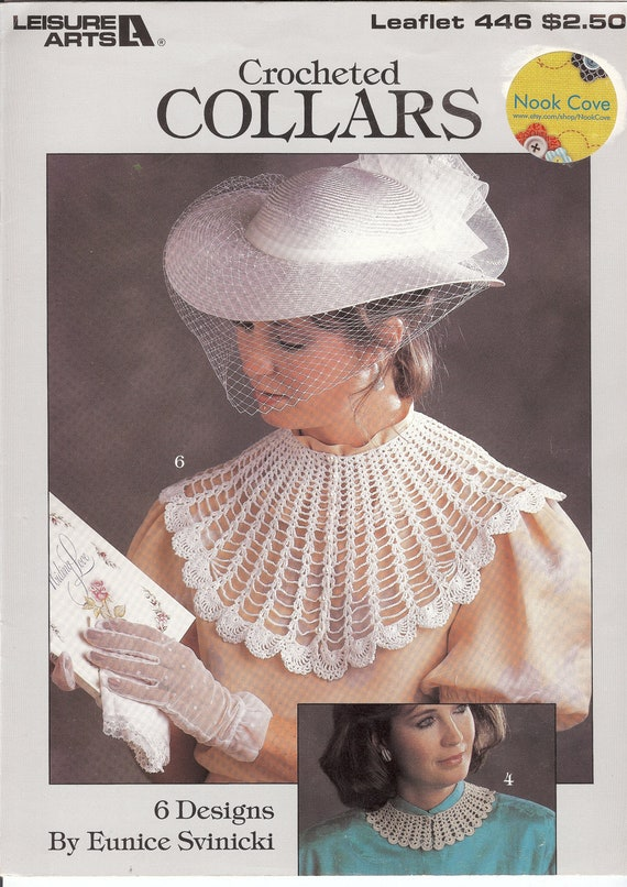 Vintage Crochet Collars Pattern  6 Designs Leisure Arts 446