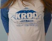 Vintage KROQ Baseball T-Shirt 1970s
