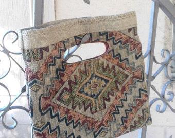 Southwest Diamond Tapestry Tote