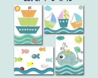 "ALL my prints, DIGITAL file, Art for Children , Kids Wall Art, Baby Girl Room Decor, set of 4 8"" x 10"", DIGITAL image"