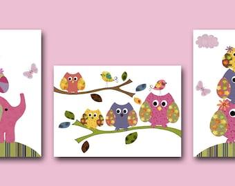 Owls Nursery Wall Art Nursery Art Baby Nursery Kids Art
