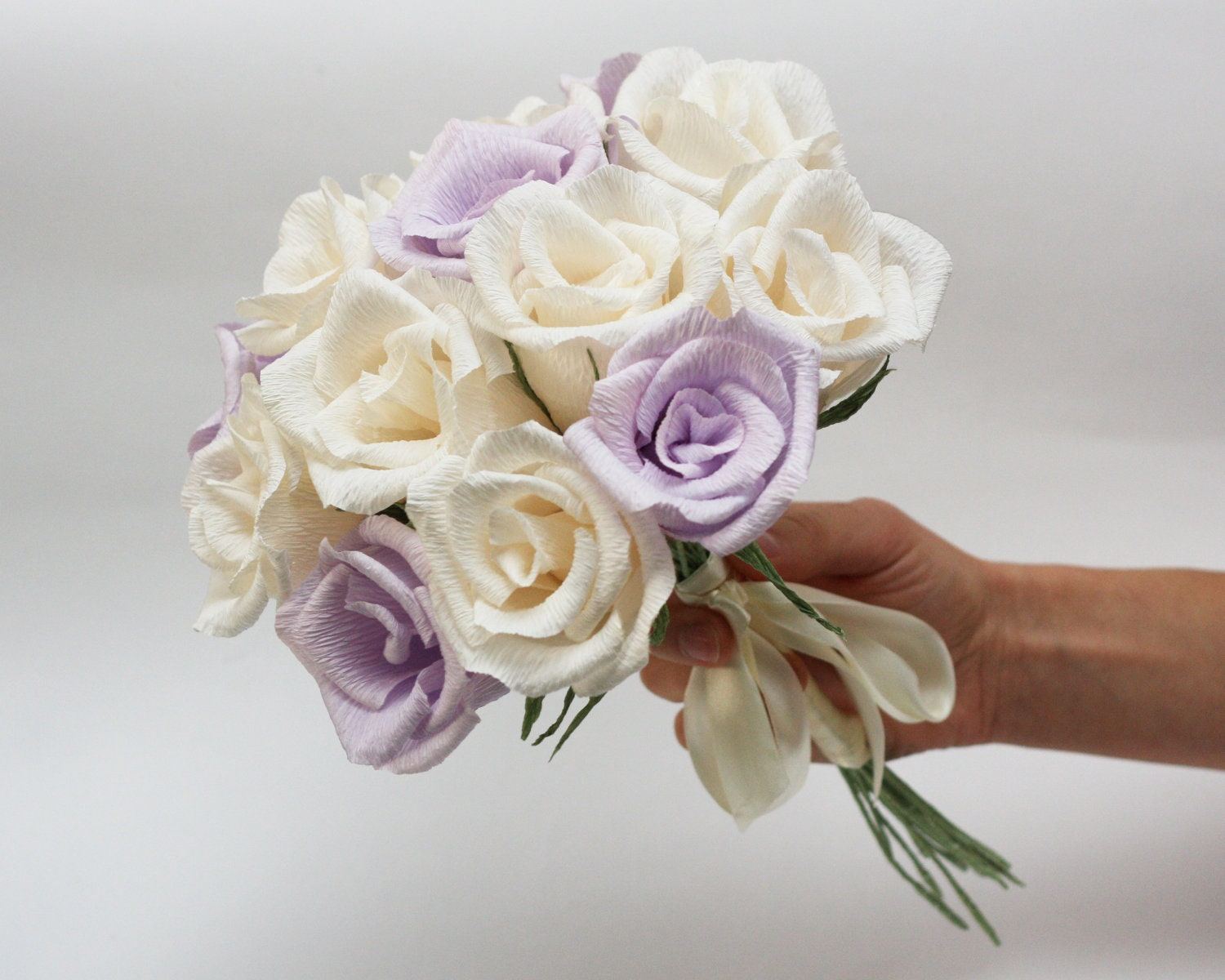 Wedding bouquet paper flower bouquet bridesmaids flowers for Best flowers for wedding bouquet