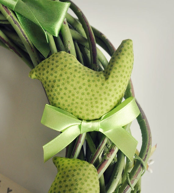 SALE % Green birds wreath