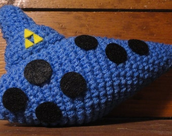 Ocarina - Hand crocheted plush inspired by the Legend of Zelda video game series